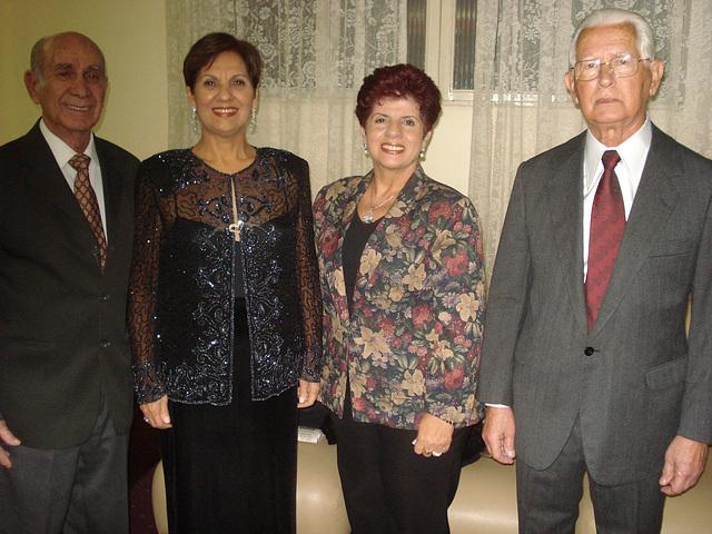 Walmir Ventura Rego, Neide Barros Rêgo, Gracinha Rego e Edmo Lutterbach