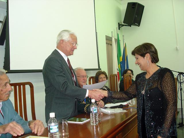 Edmo Lutterbach e Neide Barros Rêgo em Varginha, MG