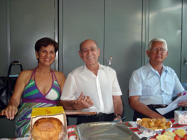 Neide, Walmir e Edmo no Clube de Esperanto de Niterói