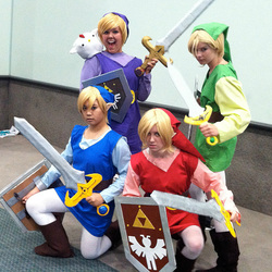Anime Expo 2013:  Cosplay (Four Links)