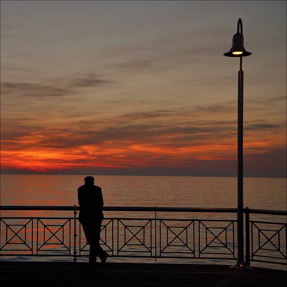 Watching the sundown.