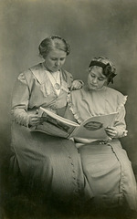 Lilly and Mazie Reading a Magazine, 1912