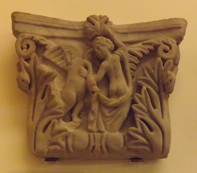 Pilaster Capital with Leda and the Swan in the British Museum, May 2014