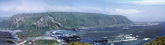 Panorama of Macquarie Island, looking south from North Head, 1968