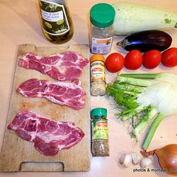 Tian au six légumes revisité et escalope panée   1