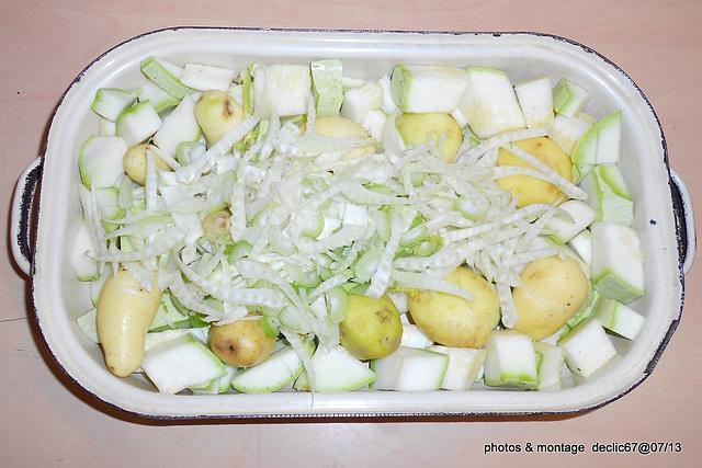 Tian au six légumes revisité et escalope panée   10