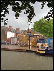 summer rain on the canal