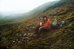 Macquarie Island 1968:  Taking a break on the plateau