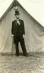 Orville Mellis, Lincoln Impersonator, Decatur, Illinois, 1938