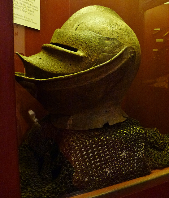 funerary helm, st.albans, herts.