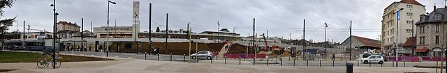 BESANCON: Travaux de la gare Viotte.