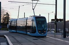 BESANCON: Premiers essais du tram: départ du dépot 05.
