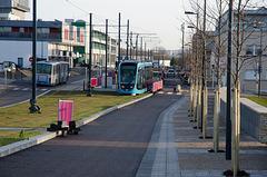 BESANCON: 1ers essais du tram: Avenue Ambroise Paré 01.