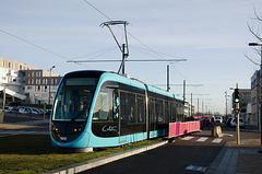 BESANCON: 1ers essais du tram: Avenue Ambroise Paré 03.