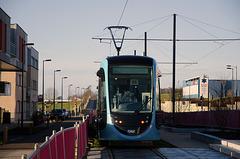 BESANCON: 1ers essais du tram: Avenue Ambroise Paré 04.