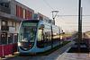 BESANCON: 1ers essais du tram: Avenue Ambroise Paré 05.