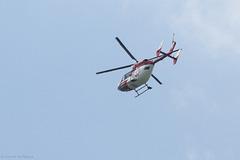Hubschrauber über der Wilhelma