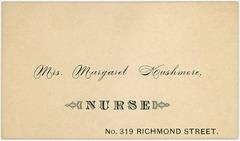Mrs. Margaret Kushmore, Nurse, Philadelphia, Pa.