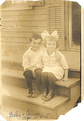 Mom's brother and sister, 1916, New Orleans
