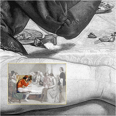 John Everett Millais: Lorenzo and Isabella (detail), 1849