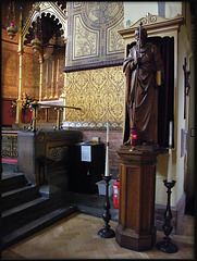 statue at St Barnabas