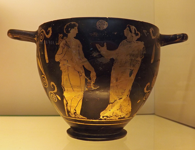 Red Figure Skyphos Attributed to the Tarporley Painter in the British Museum, May 2014