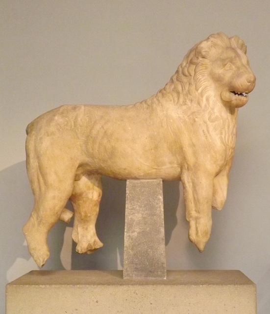 Marble Lion from the Mausoleum at Halicarnassus in the British Museum, May 2014