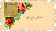 A. J. Clark Calling Card with Photograph