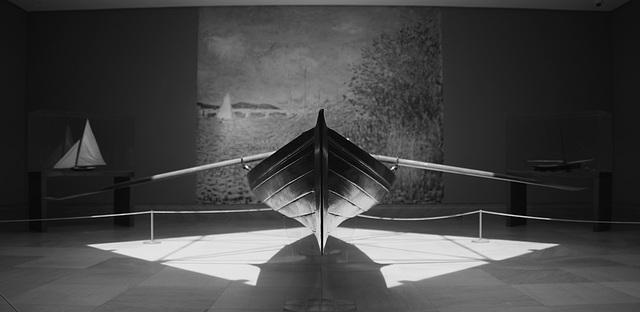 impressionist boat B&W