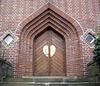 keine Kirche - die Tür eines Stadthauses in Bramsche