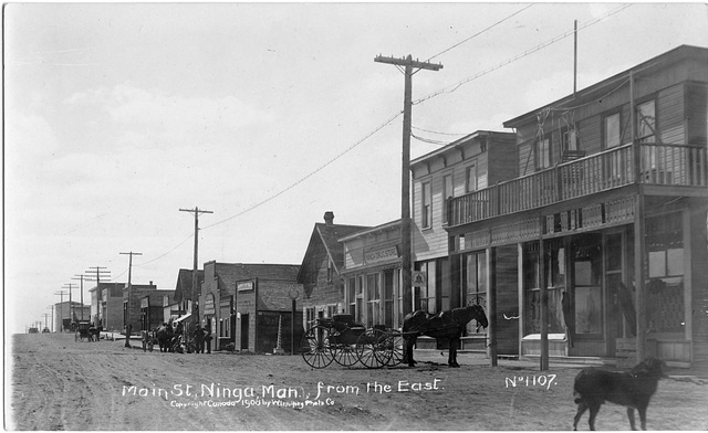 Main St., Ninga, Man. from the East.