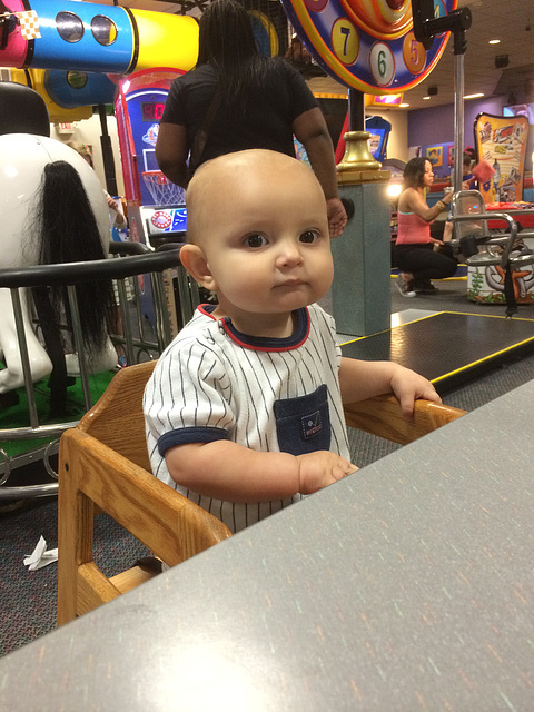 Blue's First Visit to Chuck E Cheese