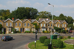 Nice houses, shame about the roundabout