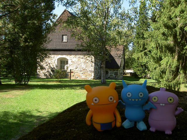 Uglies and a Medieval church