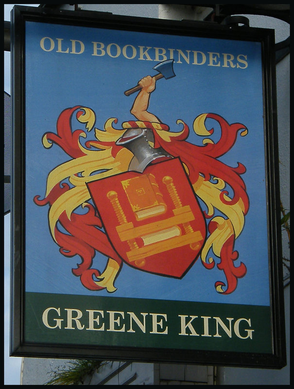 Old Bookbinders pub sign