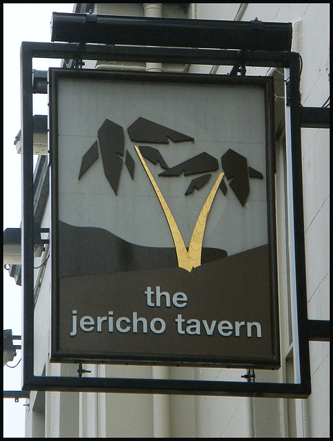 Jericho Tavern pub sign