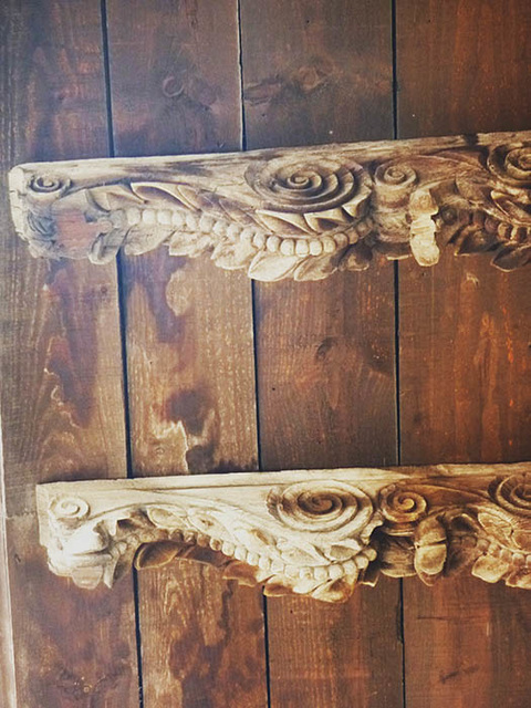 carved beams