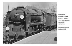 Southern Battle of Britain class  4-6-2 34087 145 Squadron at Clapham Junction in August 1966