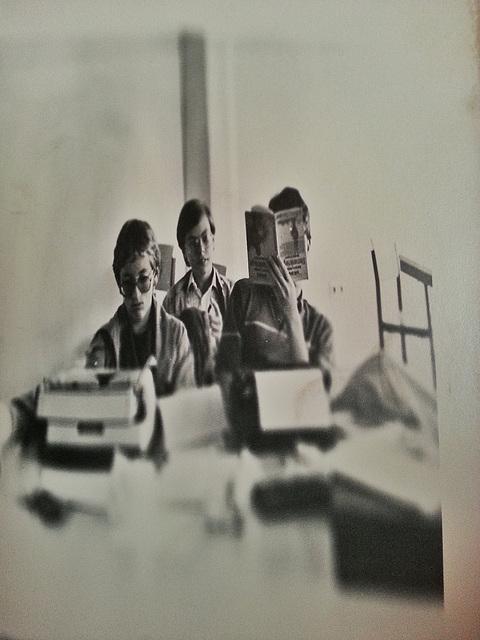 Dunkelkammerexperiment mit schief gehaltenem Fotopapier, Projekttage 1984