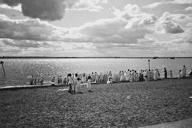 Beach Baptism, Southend-on-Sea. Nov 2010.
