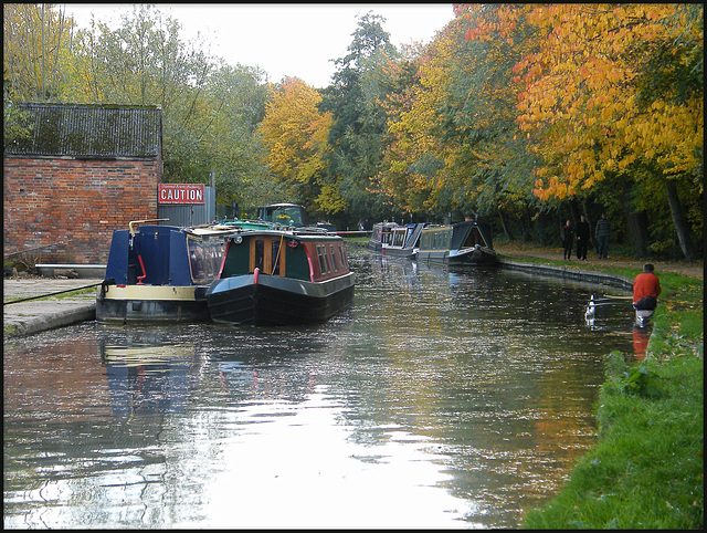 Jericho canal in autumn
