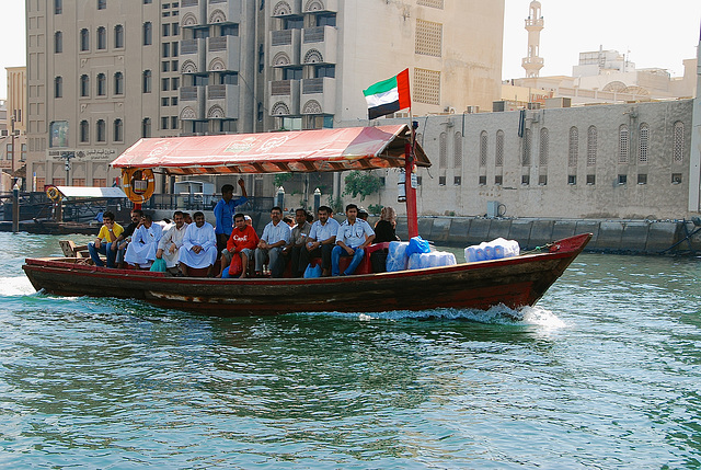 Abra water taxi, Dubai Creek