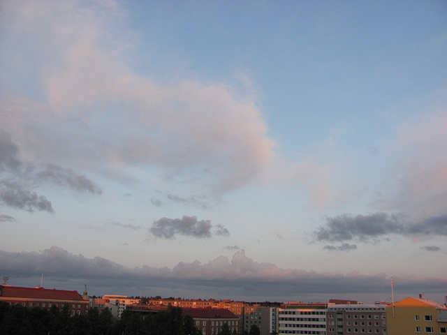Midsummer night clouds