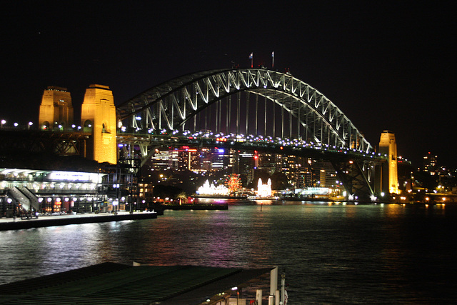 Nighttime in Sydney Harbour