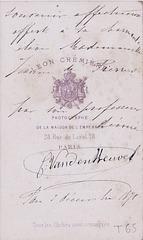Caroline Duprez-Van den Heuvel's autograph at the back