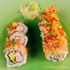 Ultimate Sushi Chili Roll Slices