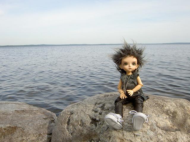 Deimos on a shore