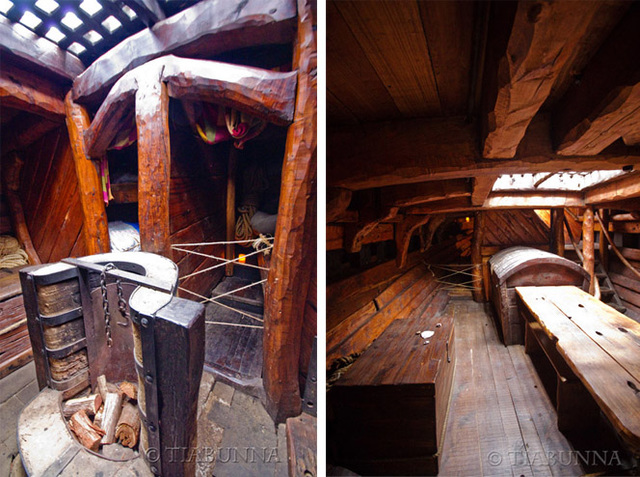 Inside the Portuguese caravel