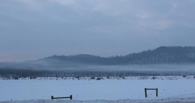 Still morning at the Hocking River