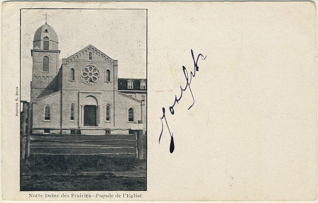 Notre Dame des Prairies - Façade de l'Église